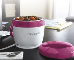 Crock-Pot® Lunch Crock® Food Warmer -- now you can enjoy your delicious slow cooked meals at work! Put your meal in the Crock-Pot® Lunch Crock® Warmer and you'll have the best lunch around. #CrockPot #LunchCrock #SlowCooker