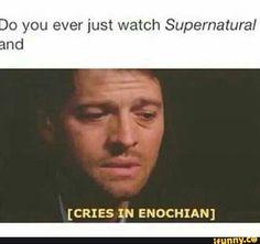 Image result for supernatural enochian funny