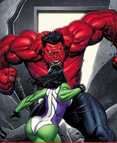 She-Hulk vs. Red Hulk