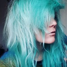 #hair #bluehair