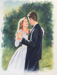 To attract more love in your life - using art and images to help you, is very useful. If you dream of a wonderful wedding dancing with your beloved - this kind of image is helpful. Wedding Dancing, Wedding Art, Illustration Art, Illustrations, Attraction, Dreaming Of You, Marriage, Dance, Painting