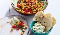 Mousse de queijo e courgette com salada de grão