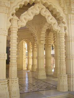 Jain architecture at Palitana Temples in Gujarat - India