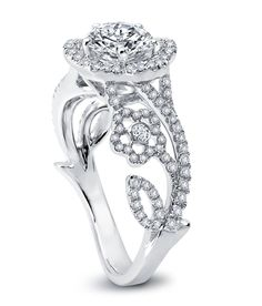 Hidalgo diamond flower engagement ring
