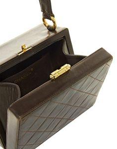 Vintage Heirloom Chanel Leather Box Bag