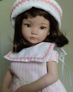 Bambola in porcellana. LCD dolls (da stampo Dianna Effner. ) #dollfashion #dolls #porcelaindolls