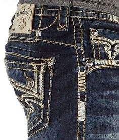 NEW 2015 STYLE! Buckle Men's ROCK REVIVAL Mid Rise Zed Boot Stretch Jean 30,34 #RockRevival #BootCut