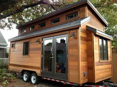 Just in case things get rough(er) : o S RV? Click on the link for more photos.  http://tinyhouseswoon.com/the-cider-box/