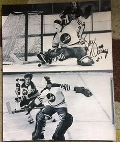 Joe Daley (upper), Ernie Wakely (lower), Winnipeg Jets goalies (WHA).