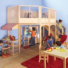 Market Loft from PoshTots. Somebody's  crafty daddy/grand daddy can replicate this