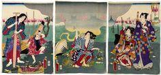 Mirage in Spring Mist (Harugasumi shinkirô)  Japanese Edo period 1863 (Bunkyû 3), 6th month Artist Utagawa Kunisada II (Kunimasa III, Toyokuni IV) (Japanese, 1823–1880),