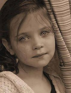 Beautiful child with soulful eyes