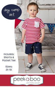 Free Shorts & T-Shirt PDF Sewing Pattern   Day Camp Set