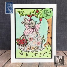 Storybook Apple Picking Card - Teacher Thank You Teacher Thank You, Thank You Notes, Apple Picking Season, New Teachers, I Card, Back To School, Stamping, Birthday Cards, Seasons