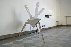 peacock (alpha) - interactive kinetic av mapping sculpture