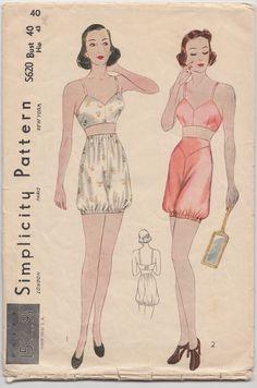 lingerie patterns | ... 1930s bra & bloomers pattern. | Vintage Lingerie Sewing Inspirat