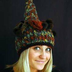 Crochet art hat by Genna Miles