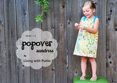 Popover Sundress. could put shirt under, easy to make, easy to find pattern