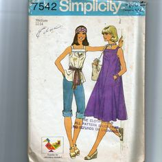 Simplicity Misses' Dress or Top Pattern 7542 by NewAgain on Etsy