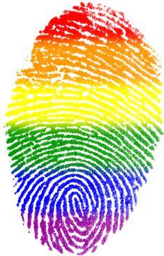Impressão Digital, Gay, Pavilhão, Símbolo, Dedo