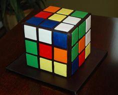 Rubic's cube groom's cake