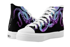 Shop Black Squid Neon High-Top Sneakers created by NDGRags. Freedom Design, Black High Tops, Retro Ideas, Tentacle, Vintage Gifts, Colorful Backgrounds, High Top Sneakers, Neon, Top Shoes