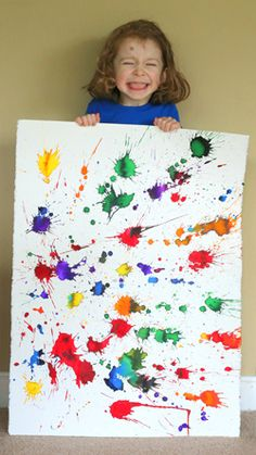 Fireworks Painting | Fun at Home with Kids for Highlights.com