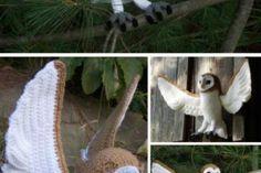 You Will Love This Large Crochet Barn Owl Pattern - Knitting Bordado Owl Patterns, Knitting Patterns, Crochet Patterns, Tatting, Barn, Crochet Hats, Barn Owls, Tutorials, Breien