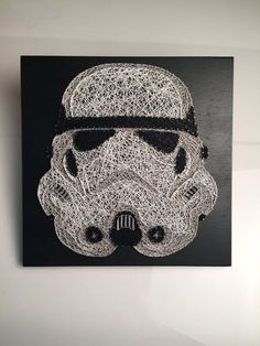 Star Wars Stormtrooper String Art by StringTheoryVan on Etsy https://www.etsy.com/ca/listing/268541775/star-wars-stormtrooper-string-art