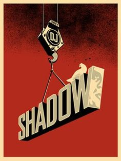 """DJ Shadow by Shepard Fairey Screen print on Speckletone paper Signed and numbered edition of DJ Shadow collaborated with Shepard Fairey on Public Works, described as a """"DJ. Obey Prints, Poster Prints, Shepard Fairy, Shepard Fairey Obey, Dj Shadow, Illustrations, Mural Art, Letter Art, Typography Poster"""