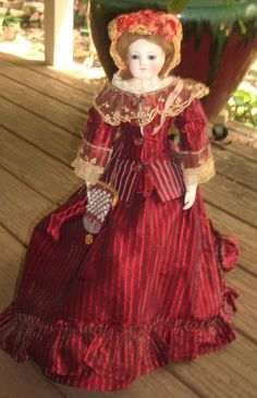 "ALL ORIGINAL 18"" Barrois French Fashion Antique Doll Lower Bisque Arms from threesistersantiques on Ruby Lane"