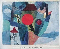 Bild:  Paul Klee - Landschaft mit der unterg. Sonne - (PK-370)