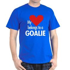 Heart belongs, goalie Black T-Shirt by sportsmusings