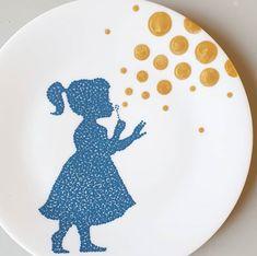 Simple Mandala, Mandala Dots, Pottery Painting Designs, Paint Designs, Glaze Paint, Dots Design, Dot Painting, Easy Projects, Ceramic Pottery