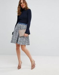 Sisley | Sisley Tweed Skirt