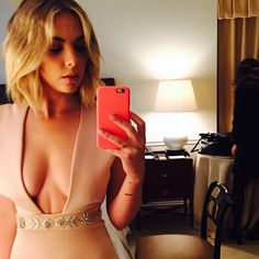 This dress is gorgeous on Ashley Benson. | Pretty Little Liars