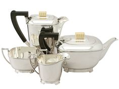 'Art Deco Tea Set in Sterling Silver' http://www.acsilver.co.uk/shop/pc/Sterling-Silver-Four-Piece-Tea-and-Coffee-Service-Art-Deco-Style-Vintage-George-VI-67p7784.htm