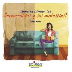 Los medicamentos homeopáticos  proporcionan un alivio significativo de la inflamación, el dolor, picor y sangrado de las hemorroides. #BOIRON #salud