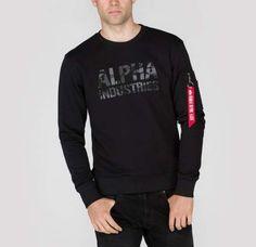 73a585856c Alpha Industries mikina Camo Print Sweat Black Black Mikiny S Kapucou
