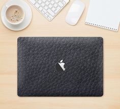 The Black Leather Skin Kit for the Apple MacBook by TheSkinDudes