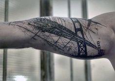 60 Golden Gate Bridge Tattoos For Men