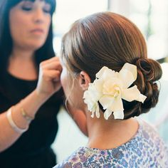 bridal flowers for hair | Classic Wedding Updo with Flower : Wedding Hairstyles Gallery