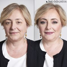 Makeup for over 50 - Before After by #diegodallapalma #vivianaveglia #mua
