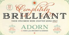 Adorn Font Collection by Laura Worthington – lettering typefaces for special occasions