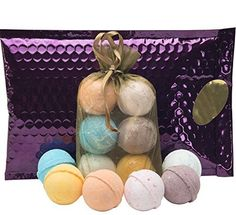Bath Bombs Gift Set - 6 Luxury Lush Spa Fizzies.Gift Ideas,Women,Men,Teens.Natural Shea & Coconut Oil,Unique Natural Scents for Pampering & Relaxation.Holiday Gift Set.Top Gifts.Trust USA Made RELAXATION & STRESS REDUCTION- Finest Quality Shea Butter, Coconut Oil & Organic Sustainable Palm Oil Nurture Dry Skin.100% Handmade. Essential Oils & Unique Aromatherapy Blends Soothe & Deeply Moisturize. Soak & Relax With This Spa Set. Worry Free! No Harsh Chemicals, Harsh Scents, or