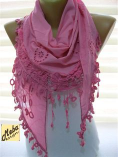 SALE  990 USD-Pink scarf-Fashion scarf  gift Ideas by MebaDesign