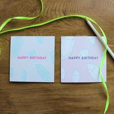 Happy Birthday Cards x sparrow and wolf