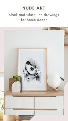 This collection of black and white line art features the body of woman in an elegant and stylish way. An evergreen series for your home decor, with great sensibility and good taste. #artisticprints #blackandwhite #wallartdecor Black And White Lines, Boho Bedroom Decor, Feminist Art, Watercolor And Ink, Line Drawing, Evergreen, Line Art, Wall Art Decor, Gallery Wall