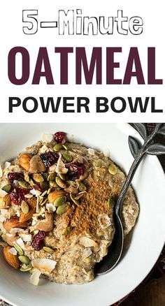 This oatmeal power bowl from Oh She Glows is not only delicious, but it also lives up to its belly-filling promise: laden with chia seeds, almonds, and cinnamon, it's an instant, energizing way to start your day. #oatmealrecipe #everydayhealth   everydayhealth.com