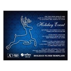 Christmas And Holiday Event Flyer Template. www.christmas-party-invitations.com